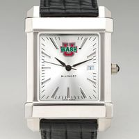 WUSTL Men's Collegiate Watch with Leather Strap