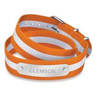 Clemson Double Wrap NATO ID Bracelet