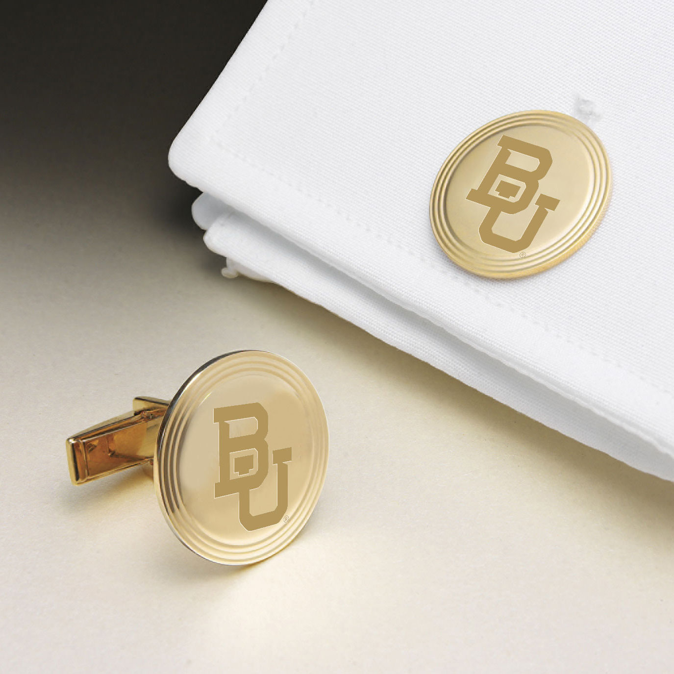 Baylor 18K Gold Cufflinks
