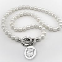 Chicago Pearl Necklace with Sterling Silver Charm