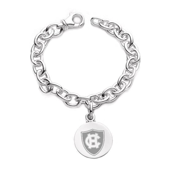 Holy Cross Sterling Silver Charm Bracelet Image-1