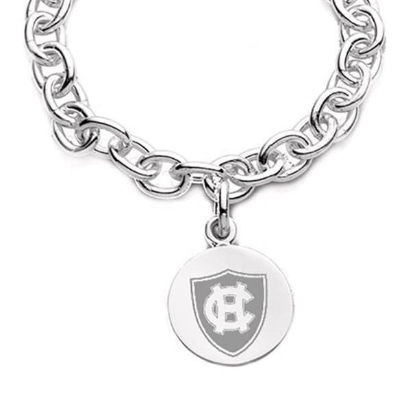 Holy Cross Sterling Silver Charm Bracelet Image-2