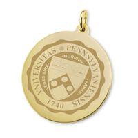 Penn 18K Gold Charm