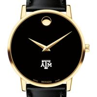 Texas A&M Men's Movado Gold Museum Classic Leather