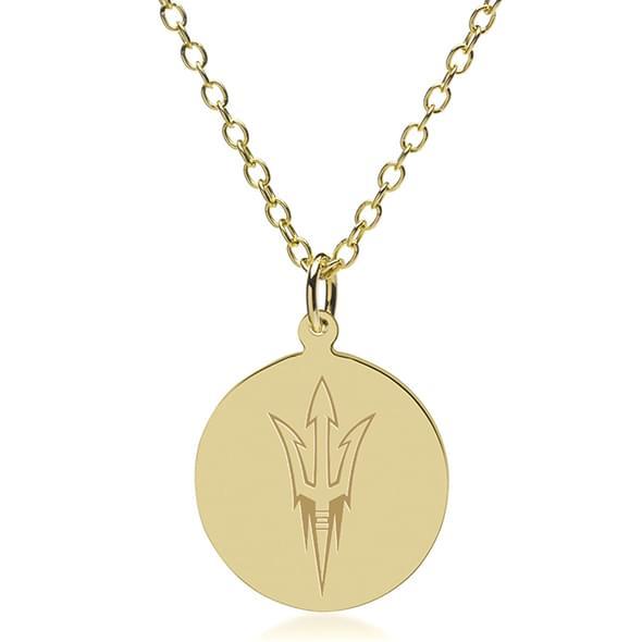 Arizona State 14K Gold Pendant & Chain