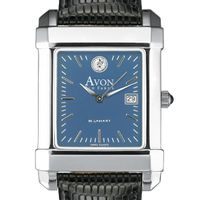 Avon Old Farms Men's Blue Quad Watch with Leather Strap
