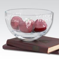 """West Point 10"""" Glass Celebration Bowl"""