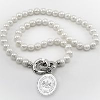 Penn State Pearl Necklace with Sterling Silver Charm