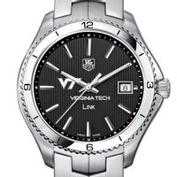 VT TAG Heuer Men's Link Watch with Black Dial