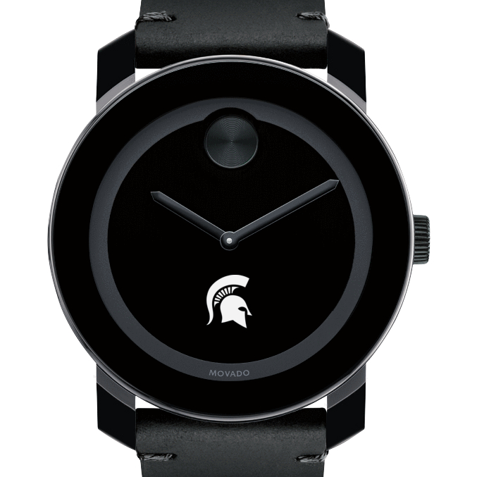 Michigan State Men's Movado BOLD with Leather Strap
