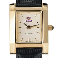LSU Women's Gold Quad with Leather Strap
