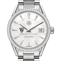WUSTL Women's TAG Heuer Steel Carrera with MOP Dial & Diamond Bezel