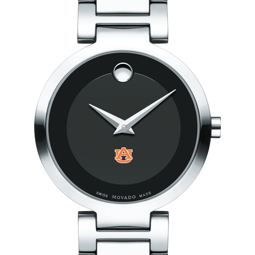 Auburn Women's Movado Museum with Steel Bracelet