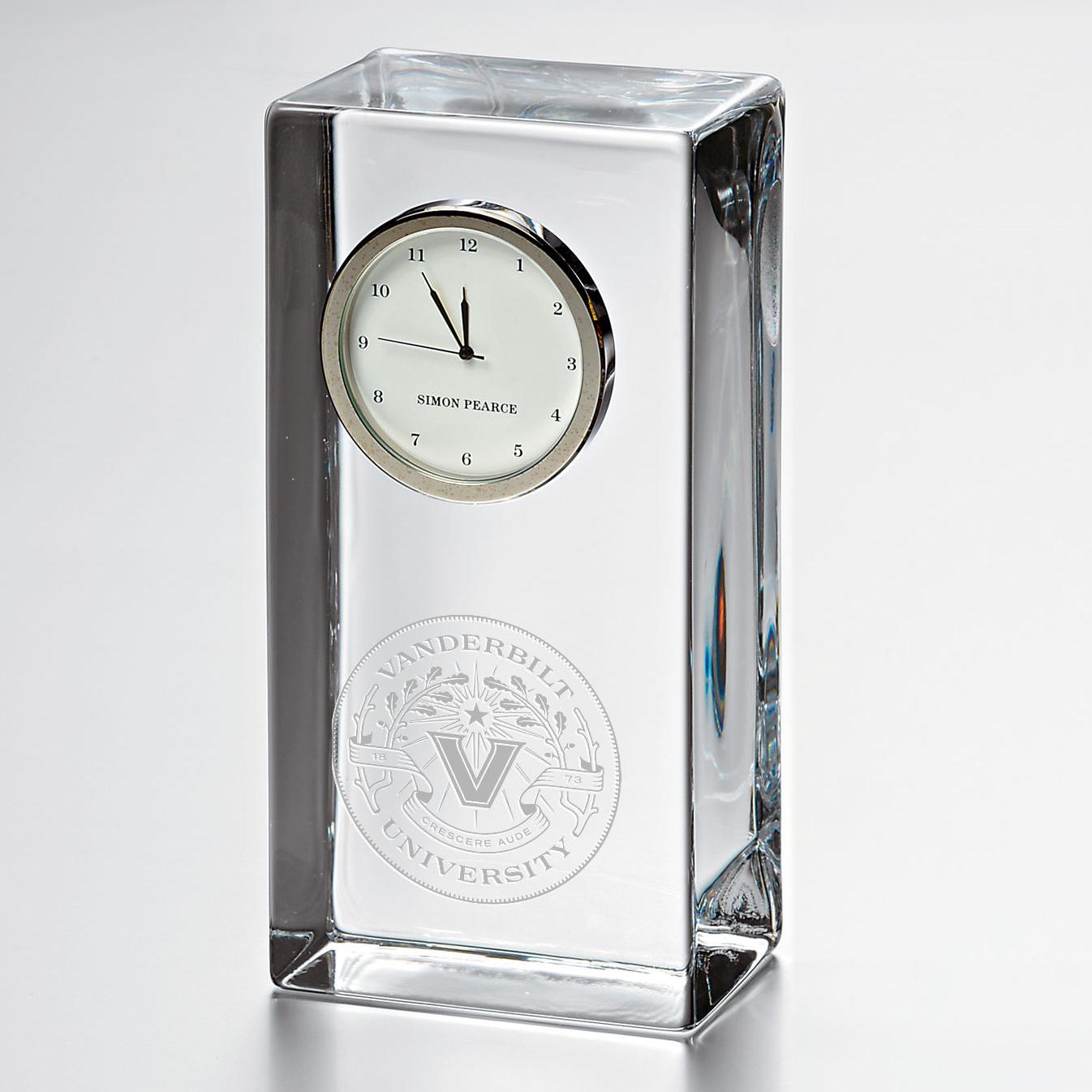 Vanderbilt Tall Class Desk Clock by Simon Pearce