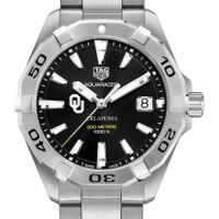 Oklahoma Men's TAG Heuer Steel Aquaracer with Black Dial