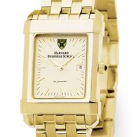 Harvard Buiness School Men's Gold Quad Watch with Bracelet