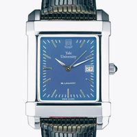 Yale Men's Blue Quad Watch with Leather Strap