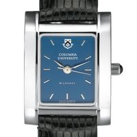 Columbia University Women's Blue Quad Watch with Leather Strap