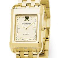 Wharton Men's Gold Quad Watch with Bracelet