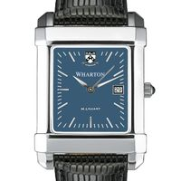 Wharton Men's Blue Quad Watch with Leather Strap
