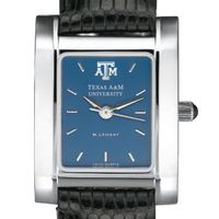 Texas A&M Women's Blue Quad Watch with Leather Strap