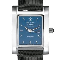 William & Mary Women's Blue Quad Watch with Leather Strap
