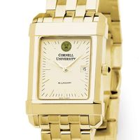 Cornell Men's Gold Quad Watch with Bracelet
