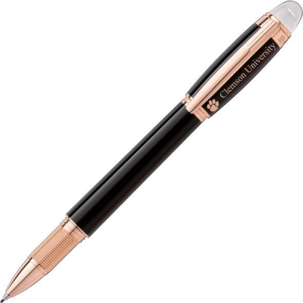 Clemson Montblanc StarWalker Fineliner Pen in Red Gold