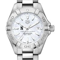 Northwestern Women's TAG Heuer Steel Aquaracer with MOP Dial