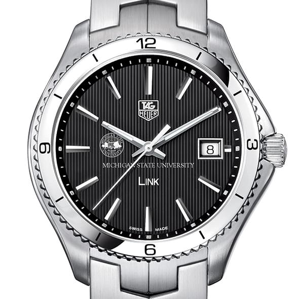 Michigan State Men's Link Watch with Black Dial