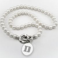 Duke Pearl Necklace with Sterling Silver Charm
