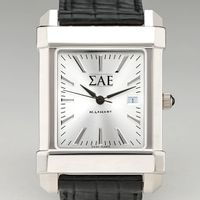 Sigma Alpha Epsilon Men's Collegiate Watch with Leather Strap Image-1 Thumbnail