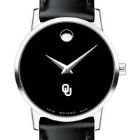 Oklahoma Women's Movado Museum with Leather Strap