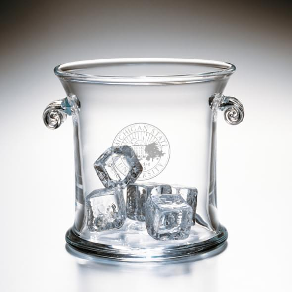Michigan State Glass Ice Bucket by Simon Pearce