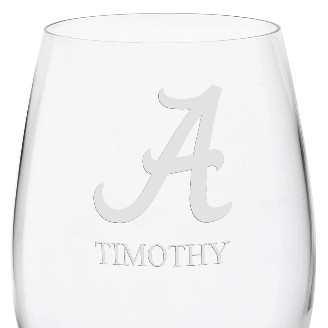 Alabama Red Wine Glasses - Set of 4