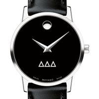 Delta Delta Delta Women's Movado Museum with Leather Strap Image-1 Thumbnail