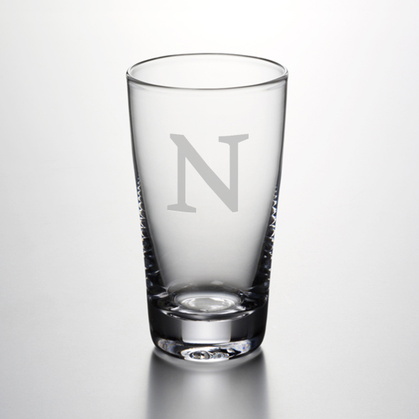 Northwestern Pint Glass by Simon Pearce