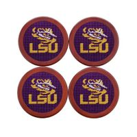 LSU Needlepoint Coasters