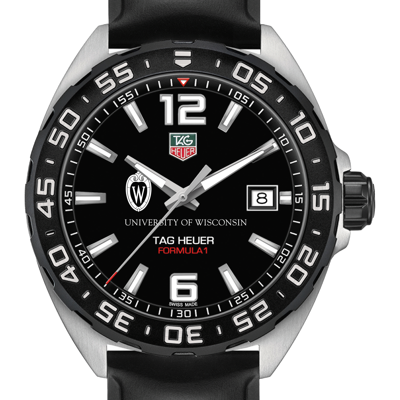 Wisconsin Men's TAG Heuer Formula 1 with Black Dial