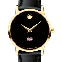 Mississippi State Women's Movado Gold Museum Classic Leather