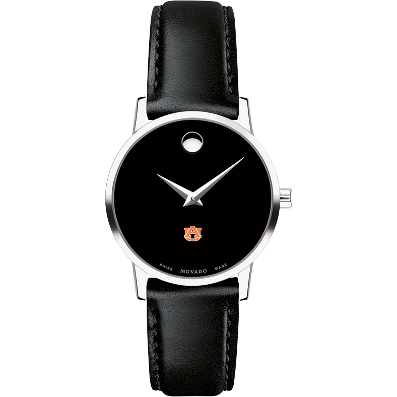 Auburn Women's Movado Museum with Leather Strap