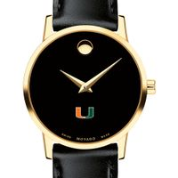 Miami Women's Movado Gold Museum Classic Leather
