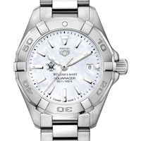 William & Mary Women's TAG Heuer Steel Aquaracer with MOP Dial