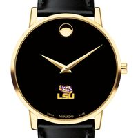 LSU Men's Movado Gold Museum Classic Leather