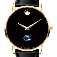 Penn State Men's Movado Gold Museum Classic Leather