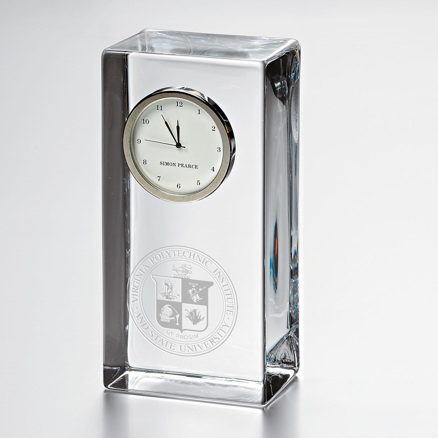VT Tall Glass Desk Clock by Simon Pearce