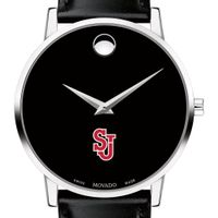 St. John's Men's Movado Museum with Leather Strap