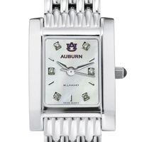 Auburn Women's MOP Steel Quad with Diamond Dial & Bracelet