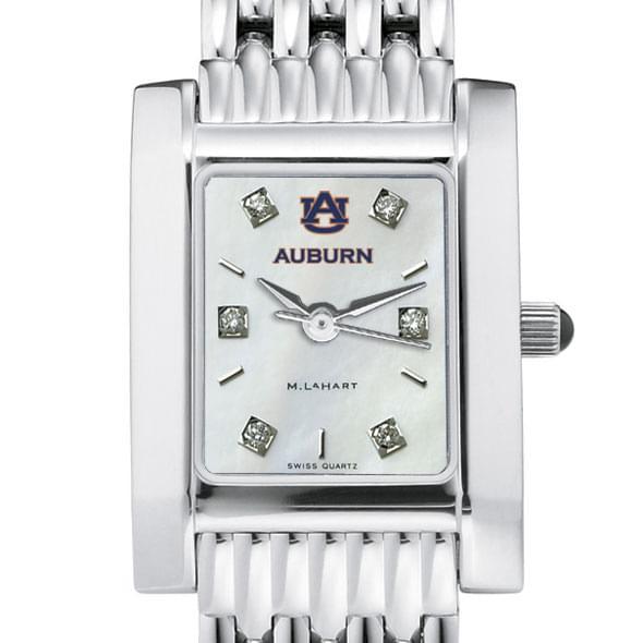 Auburn Women's MOP Steel Quad with Diamond Dial & Bracelet