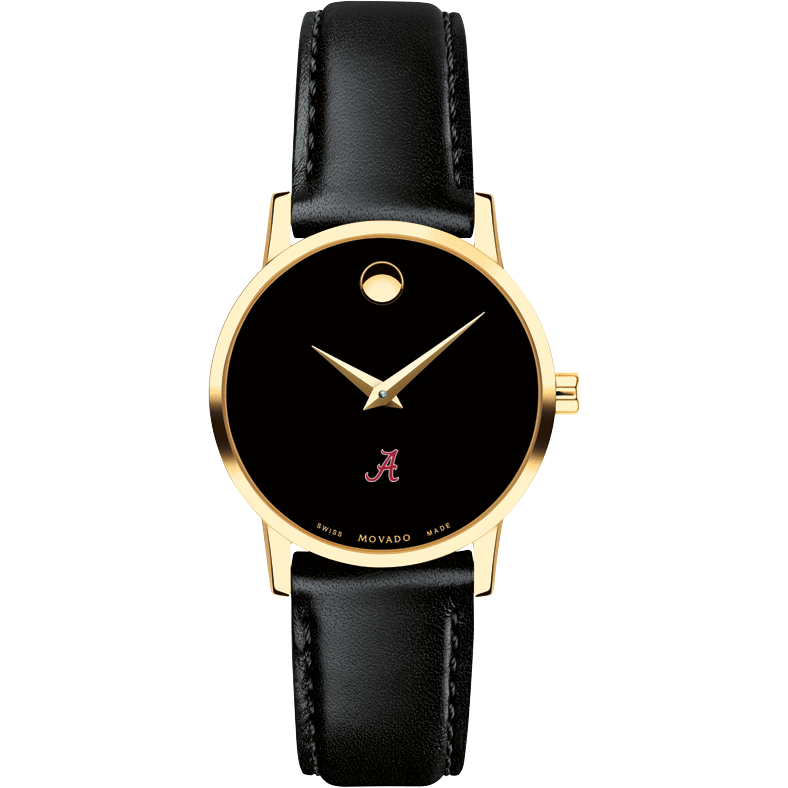 Alabama Women's Movado Gold Museum Classic Leather